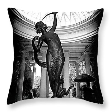 Throw Pillow featuring the photograph Artemis At Huntington Library by Lori Seaman