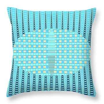Artful Design Aqua - Manipulated Photography Throw Pillow by Brooks Garten Hauschild