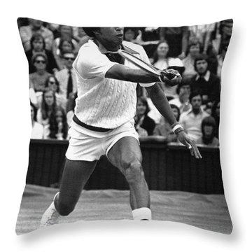 Arthur Ashe (1943-1993) Throw Pillow by Granger