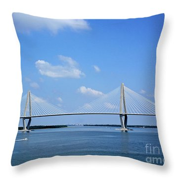 Arthur Ravenel Jr. Bridge - Charleston Throw Pillow