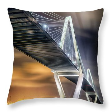 Arthur Ravenel Jr. Bridge Throw Pillow by Alan Raasch