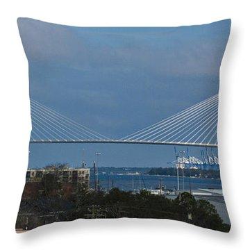 Arthur Ravenel Jr. Bridge Throw Pillow by Bill Barber