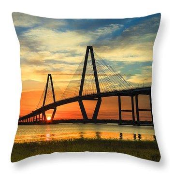 Arthur Ravenel Jr. Bridge - Charleston Sc Throw Pillow