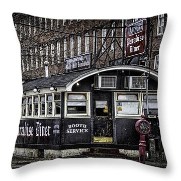 Arthur's Paradise Diner Throw Pillow by Betty Denise