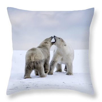 Artic Antics Throw Pillow