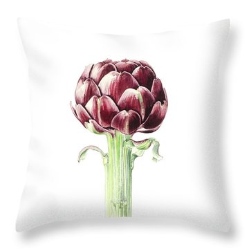 Artichoke From Roman Market Throw Pillow by Alison Cooper
