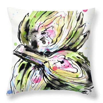 Artichoke Hearts Throw Pillow