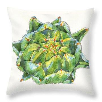 Artichoke Star Throw Pillow