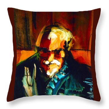 Throw Pillow featuring the painting Artie by Les Leffingwell