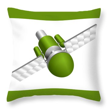 Artificial Satellite Throw Pillow