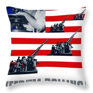 Artillery -- Keep 'em Rolling Throw Pillow