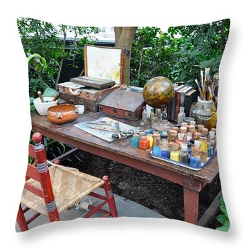 Frida Kahlo's Desk And Chair Throw Pillow