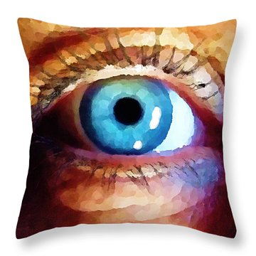 Artist Eye View Throw Pillow