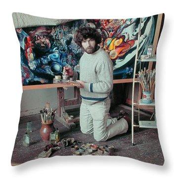 Artist In His Studio Throw Pillow