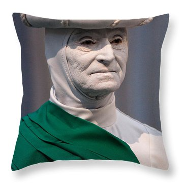 Artist In The Pale Throw Pillow by Christopher Holmes