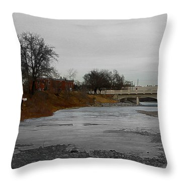 Throw Pillow featuring the digital art Artist On The Bow by Stuart Turnbull