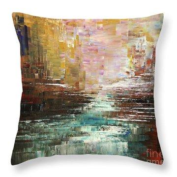 Artist Whitewater Throw Pillow by Tatiana Iliina