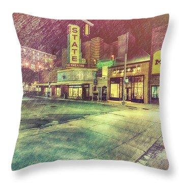 Artistic Ann Arbor Throw Pillow