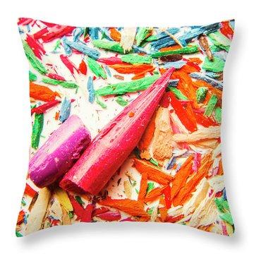 Artistic Disruption Throw Pillow