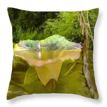 Artistic Double Throw Pillow by Leif Sohlman