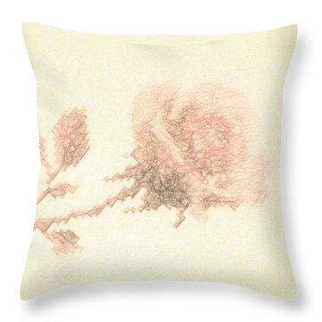 Throw Pillow featuring the photograph Artistic Etched Rose by Linda Phelps