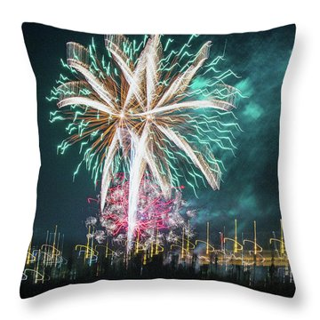 Artistic Fireworks Throw Pillow