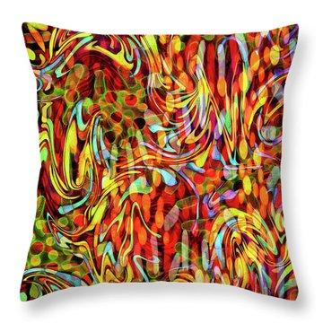 Artistic Flair Throw Pillow