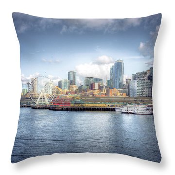 Artistic In Seattle Throw Pillow by Spencer McDonald