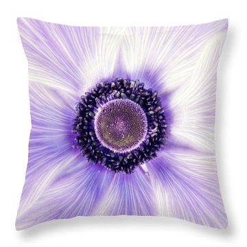 Artistic Poppy Anemone Throw Pillow