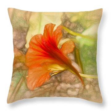 Artistic Red And Orange Throw Pillow