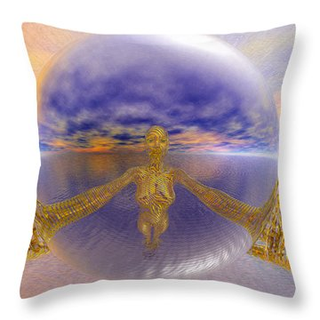 Artistic Selfie Throw Pillow by Robby Donaghey