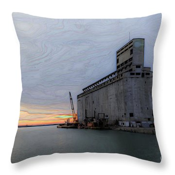 Artistic Sunset Throw Pillow