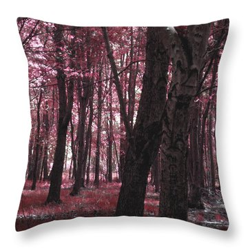 Throw Pillow featuring the photograph Artistic Tree In Pink by Michelle Audas