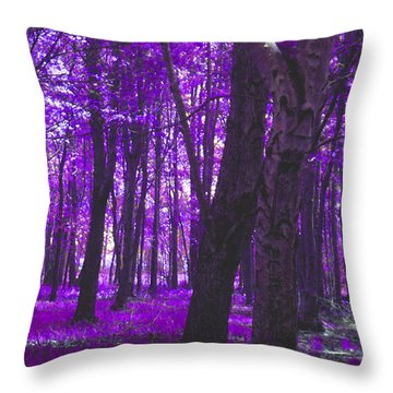Throw Pillow featuring the photograph Artistic Tree In Purple by Michelle Audas