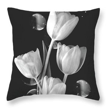 Artistic Tulip Bouquet 2  Throw Pillow