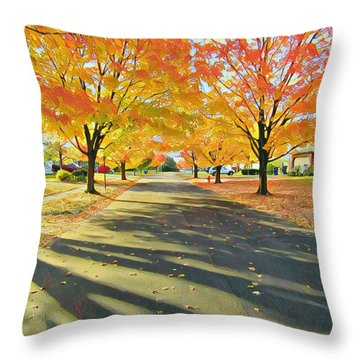 Artistic Tulsa Street Throw Pillow