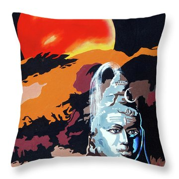 Artistic Vision Of The Almighty Throw Pillow