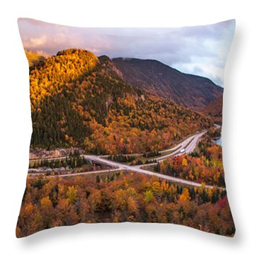 Artists Bluff Sunset Rainbow Throw Pillow