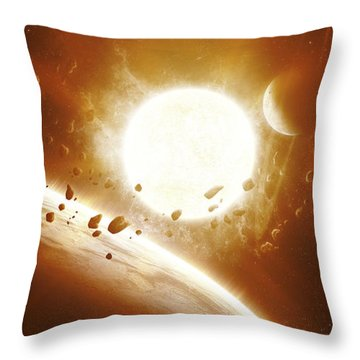 Artists Concept Of 51 Pegasi Throw Pillow by Kevin Lafin