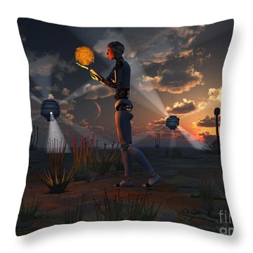 Artists Concept Of A Quest To Find New Throw Pillow by Mark Stevenson