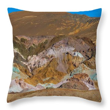 Artists Palette At Death Valley Throw Pillow