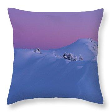 Artists Point Dusk Snowscape Throw Pillow