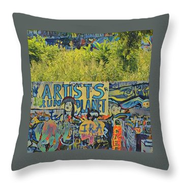 Artists Run The Planet Throw Pillow
