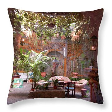 Artists' Studio In Sorrento Italy  Throw Pillow