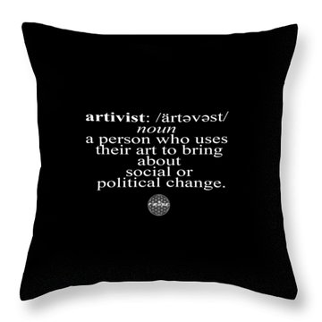 Artivism Throw Pillow by Chief Hachibi