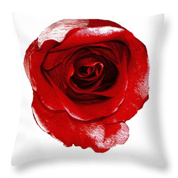 Artpaintedredrose Throw Pillow