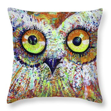 Artprize You That's Hoo Audience Participation Throw Pillow