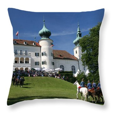 Artstetten Castle In June Throw Pillow by Travel Pics