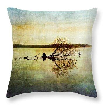 Artsy Lake Reflections Throw Pillow