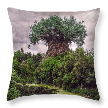 Throw Pillow featuring the photograph Tree Of Life by Hanny Heim